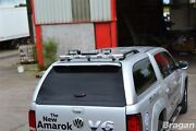 To Fit 05-12 Mitsubishi L200 Triton Stainless Steel Rear Canopy Roof Bar + Leds