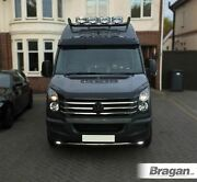 To Fit Volkswagen Crafter 06 - 14 Black Stainless Steel Roof Light Bar + Spots