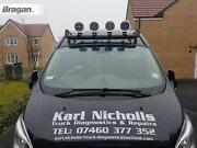 To Fit 18+ Ford Transit Tourneo Custom Roof Light Bar + Clamps + Spots - Black