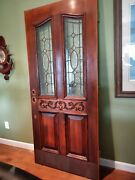 Victorian Antique Stained Glass Front Door
