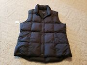 Landsand039 End Vest Womenand039s Quilted Down Puffer Vest Black Small 6 8 Snap Pockets