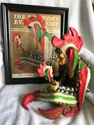 Norman Rockwell,joker Court Jester Figurine/statue And Saturday Evening Post Maga