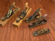 Vintage Wood Plane Lot. Bailey Stanley. Woodworking Tools Collectibles. 13 9