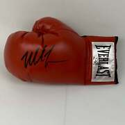 Autographed/signed Mike Tyson Red Everlast Boxing Glove Athlete Hologram Coa