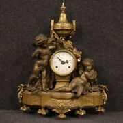 Table Clock Furniture Object In Gold Bronze And Antimony Antique Style