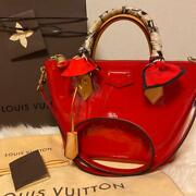 Louis Vuitton Monte Velo Pm 2way Bag Vrnis Exclusive Japan Red From Japan F/s