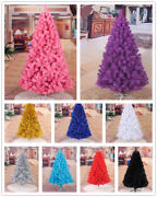 4ft 5ft 6ft 7ft Christmas Tree Undecorated Pink Purple Blue Gold Silver Black