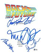 Michael J Fox Autographed Back To The Future Full Script Cast Signed Beckett Bas