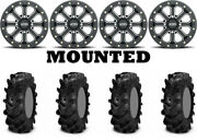 Kit 4 Itp Cryptid Tires 32x10-15 On Itp Velocity Beadlock Black Narrow Ter