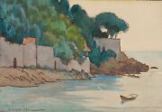 Auguste Roubille - Painting - Gouache - The Creek
