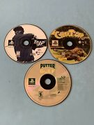 Tiger Woods 99 Cyber Tiger And Putter Golf Ps1 Lot Discs Only Tested Ships Fast