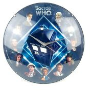 Doctor Who Glass Faced Wall Clock By Rabbit Tanaka 12 In Diameter Tardis Dr. Bbc