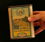 Vintage Advertising Tin For Olive Oil From Portugal