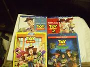 4 Disney Pixar Toy Story Blu-ray/dvd Lot Toy Story 1 2 And 3 + Halloween