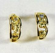 Gold Nugget Earrings Orocal Eaj030d Genuine Hand Crafted Jewelry - 14k Gold Ca