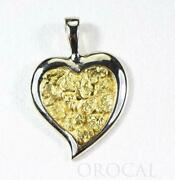 Gold Nugget Pendant Orocal Ph12w Genuine Hand Crafted Jewelry - 14k Gold White