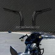 12and039and039 Riser Black Handlebar Z Bar Clutch Fit For Harley Touring Glides 2014-2020