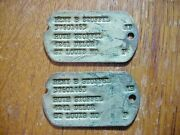 Wwii Us Army Nok Dog Tags St. Louis Mo.