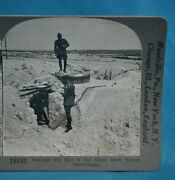 Ww1 Stereoview Photo German Pill Box In Blanc Mont Sector Champagne Keystone
