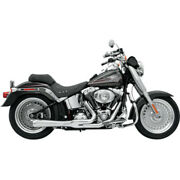 Bassani Chrome Short Road Rage 2 Into 1 Exhaust Pipe System Harley Softail 86-17