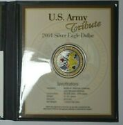 2001 Colorized Silver Dollar - 4 Coins - Us Army Navy Air Force Marine Gift