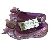 Sofia The First Shoes Size 5/6 Costume Purple Glitter Heart Disney New Dress-up