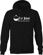 Fish Naked Wiggle Your Worm Shirt Hoodies For Men Black