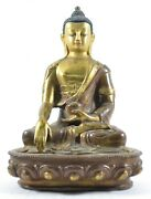 Vintage Brass Buddha Statue Sculpture Solid Handcrafted Indian Home Decorative