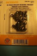 Bachmann 42537 N Scale Roller Brng Trucks W/ Axles And Z-mate Knuckle Couplers 2