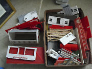 Big Lot Of Vintage O Scale Plasticville Building Parts Walls Trim And More 3
