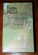 Forge And Anvil Vhs Vol 2 Programs 6-10 Blacksmithing Alan Rogers 1995