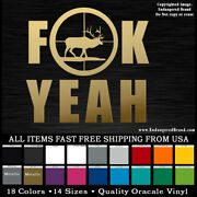 Elk In The Scope Sites Fk Yeah Hunting Sticker Decal For Car Truck Window