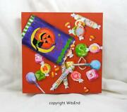 Halloween Treat Bags Painting Original Holiday Art Lets Make A Deal