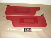 Oem 86 Lincoln Town Car 4 Dr Sun Visors With Vanity Lights Lighted Mirrors Pair