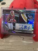 Terry Mclaurin Rookie Auto 4 Color Redskins Jersey Patch Spectra Aspiring 1/2