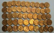 1944-s 1c Cent Lincoln Wheat Full Roll 50 Coins +tube Uncirculated Lg251