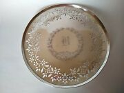 Roger Williams Silver Company Antique Sterling Silver Tray Monogram Initial B