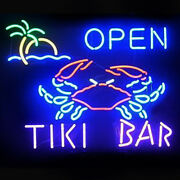 Neon Signs Gift Tiki Bar Open Beer Bar Pub Store Party Room Wall Decor 19x15