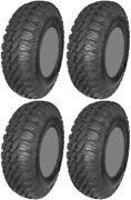 Four 4 Ams M4 Evil Atv Tires Set 2 Front 28x10-14 And 2 Rear 28x10-14