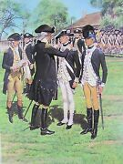 Newburgh 1783 Dept Of Army Center Of Military History Vintage Art Print 1974