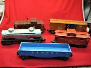 Lionel Post-war 5 Pc. Freight Car Lot - Overall Nice Condition 2