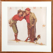 Norman Rockwell Autumn Poster