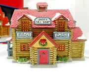 Lemax Dickensvale 1995 Jackand039s Ski Shop Illuminated Porcelain Collectible
