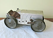 1930and039s Marx Vintage Metal Toy Tractor Wind-up 8 L Missing Parts Nice Display