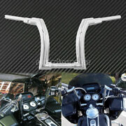 14and039and039 Riser Motorcycle Chome Handlebar Z Bar Clutch Fit For Harley Touring 14-20