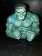 """The Incredible Hulk Coin Bank 7"""" Raging Fists Marvel Comics Avengers 2010 Green"""