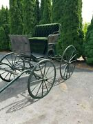 Horse Drawn Carriage With Rumble Seat Refurbished In Nappanee Indiana