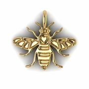 Manchester Bee Jewellery Hallmarked 9ct Yellow Gold Pendant No Chain Included