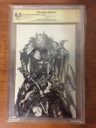 Dark Nights Metal 6 Sketch B/w Cbcs 8.5 Signed By Capullo, Snyder And Glapion