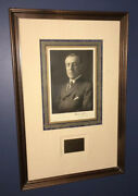 President Woodrow Wilson Signed Autographed Photograph Portrait Dated 1913